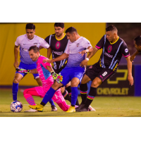 Las Vegas Lights FC goalkeeper Ricardo Ferrino (in pink) vs. Rio Grande Valley FC Toros