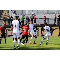 Ottawa Fury FC vies for possession with Atlanta United 2
