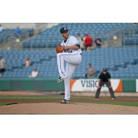 Syracuse Chiefs pitcher Kyle McGowin threw a brilliant eight innings of scoreless ball Tuesday night