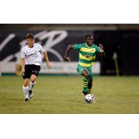 Tampa Bay Rowdies with possession against the Charleston Battery