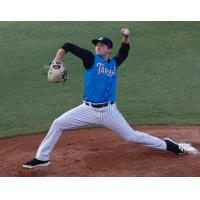 Tampa Tarpons pitcher Dalton Lehnen delivers