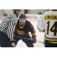 Forward Manny Gialedakis with the University of Guelph