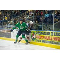 Defenseman Keegan Kanzig with the Florida Everblades