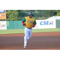 Moises Sierra of the Syracuse Chiefs rounds the bases