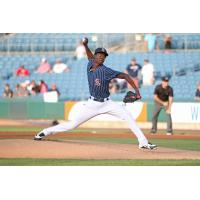 Phillips Valdez of the Syracuse Chiefs was excellent over seven scoreless innings Friday night