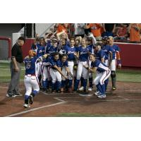 The Chicago Bandits welcome Emily Carosone home following her round-tripper