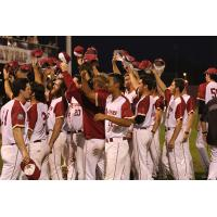 Wisconsin Rapids Rafters celebrate a win