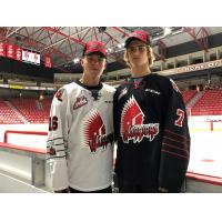 Moose Jaw Warriors  import players Daniil Stepanov and Yegor Buyalsky