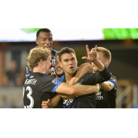San Jose Earthquakes celebrate a Chris Wondolowski goal