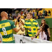 Cole Eicher and Jochen Graf of the Tampa Bay Rowdies