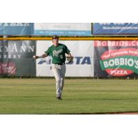 Cole Carder of the Medford Rogues warming up