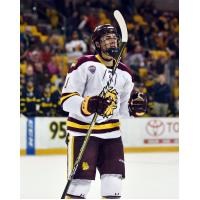 Forward Avery Peterson with the University of Minnesota-Duluth
