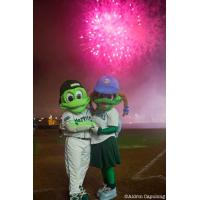 Daytona Tortugas mascots Shelldon and Shelly
