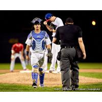 Ottawa Champions head back after a visit to the mound