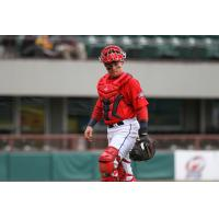 Catcher Christian Vazquez with the Pawtucket Red Sox