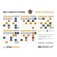 Salt Lake City Stars 2018-19 Regular Season Schedule