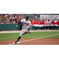 Shortstop Kevin Newman of the Indianapolis Indians runs the bases