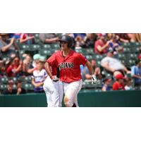Indianapolis Indians second baseman Kevin Kramer rounds the bases