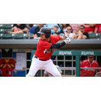 Indianapolis Indians second baseman Kevin Kramer awaits a pitch