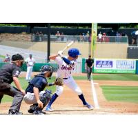 Tennessee Smokies infielder Zack Short awaits a pitch