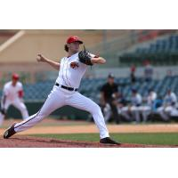 Florida Fire Frogs pitcher Ian Anderson about to deliver