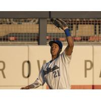 Jacob Scavuzzo of the Tulsa Drillers makes a catch