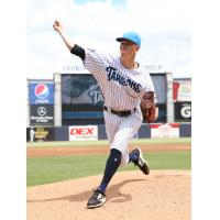 Tampa Tarpons pitcher Christian Morris delivers