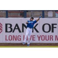 Tulsa Drillers left fielder Jacob Scavuzzo