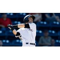 Bruce Caldwell of the Scranton/Wilkes-Barre RailRiders swings away