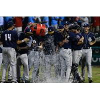 San Antonio Missions celebrate a Texas League Championship Series berth