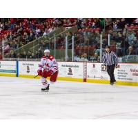 Defenseman Scott Dornbrock with Miami University in Ohio