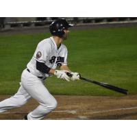 Craig Massey of the Somerset Patriots bolts from the box