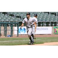 Anthony Vega of the Long Island Ducks rounds the bases