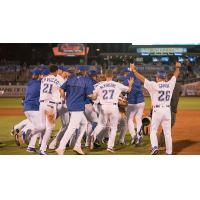 Tulsa Drillers celebrate a walk-off win