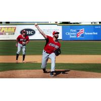 Carolina Mudcats pitcher Luke Barker