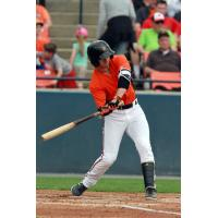 Outfielder Ryan McKenna with the Frederick Keys