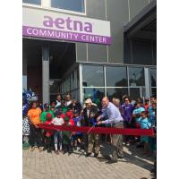 Ribbon cutting ceremony of Aetna Community Center