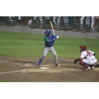 MJ Melendez at bat for the Lexington Legends