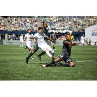 Raul Ruidiaz of Seattle Sounders FC made his MLS debut in a 2-0 Seattle win over Vancouver on July 21