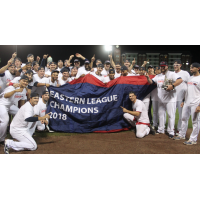New Hampshire Fisher Cats unfurl Eastern League championship banner
