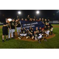 Sussex County Miners celebrate the Can-Am League championship