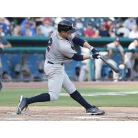 Scott Kelly of the Somerset Patriots swings away