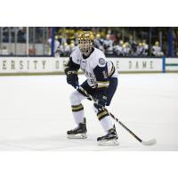 Forward Connor Hurley with Notre Dame