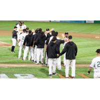 Long Island Ducks exchange victory high fives