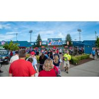 Fans flock to Avista Stadium, home of the Spokane Indians