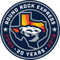 Round Rock Express 20th Anniversary logo