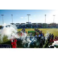 Fans welcome Colorado Springs Switchbacks FC to the field