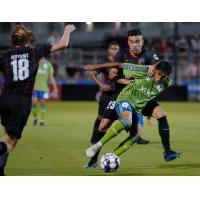 Sounders FC 2 possesses the ball vs. San Antonio FC