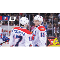 Spokane Chiefs forwards Kailer Yamamoto and Jaret Anderson-Dolan