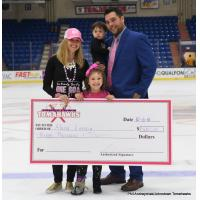 Johnstown Tomahawks present check to the Letizia Family